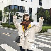 冬裝新款寬松大碼棉衣女學生韓版大毛領棉服棉襖潮