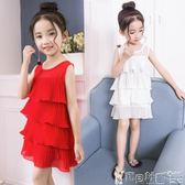 洋裝 洋裝女童洋裝夏裝兒童裝韓版雪紡寶寶小女孩荷葉邊公主裙子   寶貝計畫
