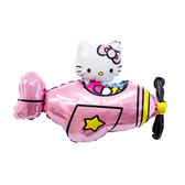 14吋氣球手拿棒-飛機凱蒂貓