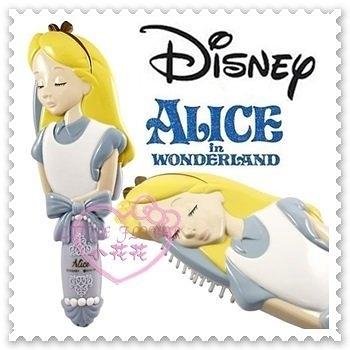 ♥小花花日本精品♥《Disney》迪士尼愛麗絲公主系列圓珠梳氣囊頭皮按摩梳大頭日本限定 57037004