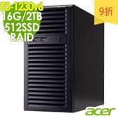 【現貨】Acer伺服器 T110F4 E3-1230v6/16G/1Tx2+512/RAID 商用伺服器