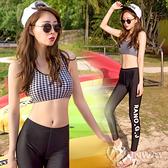 【R】日韓版 夏日 性感 甜美 泳裝 泳衣 分體 比基尼 三件套 水母服 長褲沙灘 運動 女士 泳衣女