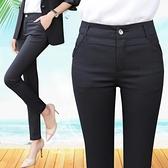 西裝褲 彈力大碼黑色白領西褲職業正裝工作服休閒長褲