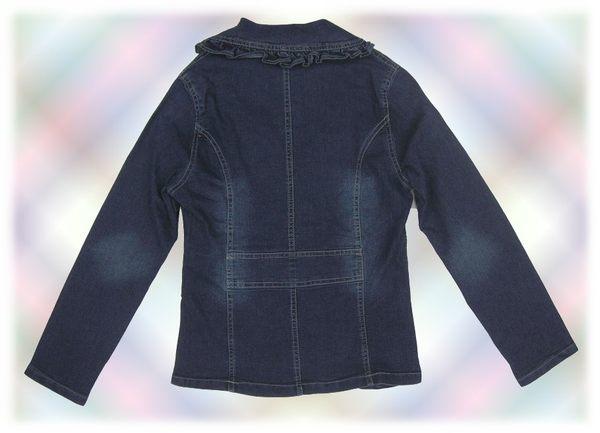 【波克貓哈日網】日本帶回~造型牛仔外套◇Sensual Essence◇《荷葉邊設計》  深藍色