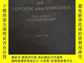 二手書博民逛書店THE罕見AUTHENT MAP DIRECTO OF LONDON AND SUBURBSY25624 見實