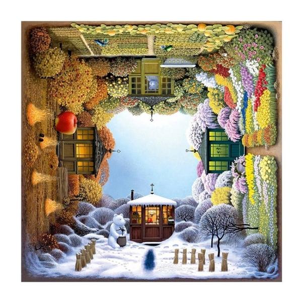 旋轉的四季花園1000片德國進口拼圖益智拼圖 新年禮物