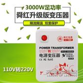 變壓器110V轉220V 3000W電壓轉換器大功率電器 IGO