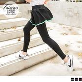 《KS0335》台灣品質.世界同布~假兩件式拼色邊運動褲裙 OrangeBear