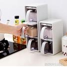 歐式塑料調味瓶廚房用品創意調味盒鹽罐味精調料罐套裝調料盒