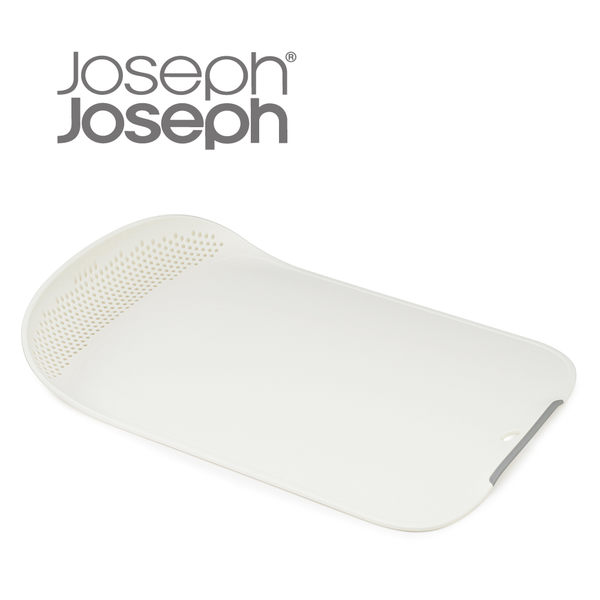 《Joseph Joseph英國創意餐廚》洗濾兩用弧型砧板(白)