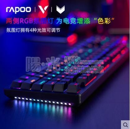 鍵盤 雷柏 V508游戲機械鍵盤青軸黑軸茶軸紅軸混彩RGB背光有線發光吃雞LOL電競專用104鍵 NMS陽光好物