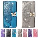 SONY Xperia 10 III Xperia 1 III Xperia 5 III 磁扣水晶蝴蝶 手機皮套 掀蓋殼 插卡 支架 可掛繩 保護套