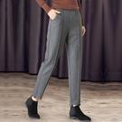 毛呢哈倫褲子女士呢子九分褲2020新款寬松高腰顯瘦小腳《蓓娜衣都》