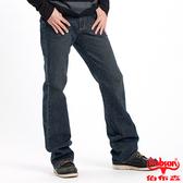 BOBSON 男款立體褶痕小喇叭褲(1653-52)