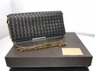 ■現貨在台■專櫃66折■Bottega Veneta 510564 經典小羊皮編織釦式皮夾/鍊帶包