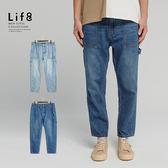 Life8-Casual 日系工風 錐形版牛仔長褲  【02522】