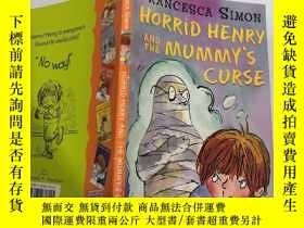 二手書博民逛書店HORRID罕見HENRY AND THE MUMMY S CURSE : 可怕的亨利和木乃伊的詛咒.Y200