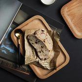 雙12鉅惠 半房雜貨日式木質長方小托盤實木小餐盤茶托盤堅果零食點心木盤子