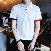 polo衫短袖T恤男裝夏季青少年學生男士翻領商務休閒衣服 時尚芭莎