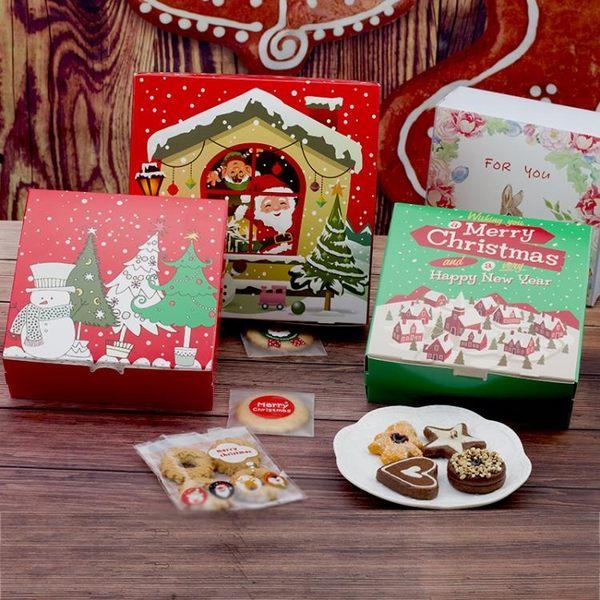 圣誕6寸 8寸芝士乳酪慕斯起司戚風蛋糕盒 西點餅干牛軋糖果包裝盒