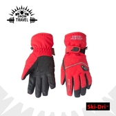 【SNOW TRAVEL 防水透氣高檔手套《紅》】AR-72/雪地/滑雪/手套/防寒手套/保暖/機車