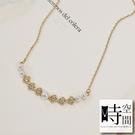 『時空間』典雅微笑珍珠鑲鑽造型(14Kg...
