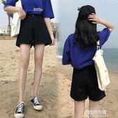 高腰牛仔短褲女夏新款韓版寬鬆學生百搭a字chic闊腿熱褲  朵拉朵衣櫥