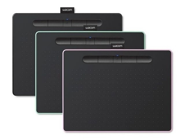 Intuos Comfort Plus Medium繪圖板藍芽版(黑/綠/粉)CTL-6100WL