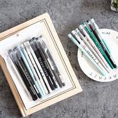 中性筆 韓國小清新可愛創意簡約復古學生用黑色筆簽字0.5水筆   初見居家