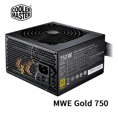 Cooler Master 酷碼 MWE Gold 750 80 PLUS 金牌 750W 電源供應器 五年保固 MPY-7501-ACAAG