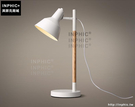 INPHIC- 北歐鐵藝現代木藝工作學習閱讀看書檯燈臥室書房創意辦公書桌燈_S197C