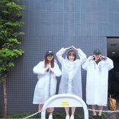 ZAA雜啊 半透明雨衣風衣 戶外徒步旅行防雨防風雨衣 男女長款雨披  莉卡嚴選
