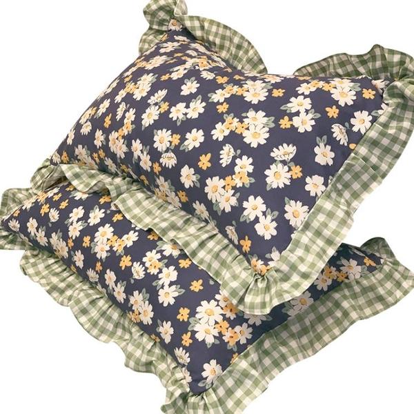 田園風枕套一對裝大號枕頭套子ins風單個單人兒童枕芯內膽套整套 設計師生活百貨