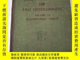 二手書博民逛書店international罕見tables for X-RAY