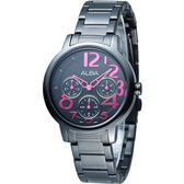 ALBA 玩美時尚全日曆女錶-IP黑(AP6039X1)