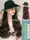 假發帽子長卷發女帶頭發一體時尚自然夏天網紅大波浪新式全頭套女 交換禮物