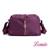 【Lemio】防潑水單肩小方包(魅力紫)