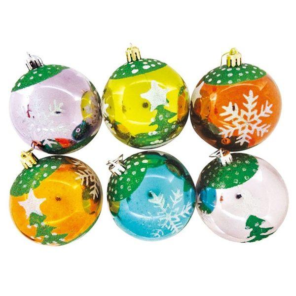 彩畫聖誕球吊飾 (6入) | OS小舖