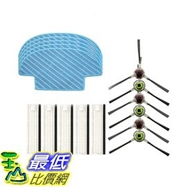 [106美國直購] ECOVACS Accessory Kit 吸塵器周邊 for DEEBOT SLIM Robotic Vacuum Cleaner - Filter, Brush, Mop