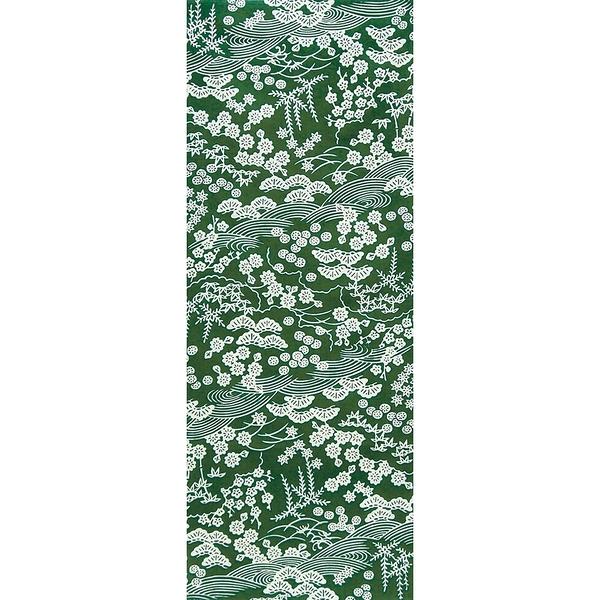 【日本製】【和布華】 日本製 注染拭手巾 綠色 和風松竹梅圖案(一組:3個) SD-4973-3 - 和布華