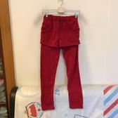 韓版百搭顯瘦內刷毛假兩件休閒褲(XL號/222-7182)