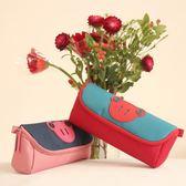 日韓簡約創意女生可愛高中初小學生兒童大容量多功能筆袋文具筆盒