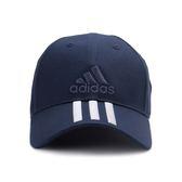 ADIDAS 6P 3S CAP COTTO 三線運動帽 藍白 BK0808 鞋全家福