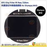 STC Clip Filter IR Pass 720nm 內置型 紅外線通過 濾鏡 for Olympus M43