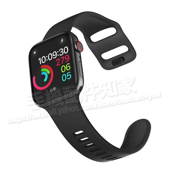 【38mm/40mm】 Apple Watch Series 1/2/3/4/5 運動型矽膠錶帶/智慧手錶運動型錶環/按插式錶扣-ZW