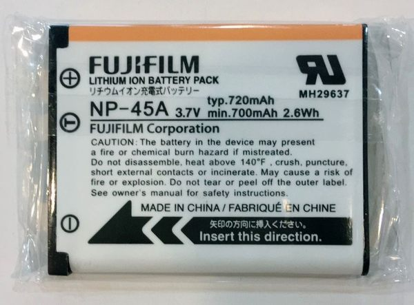 全新 Fujifilm NP-45A 原廠鋰電池  EN-EL10 LI-42B【裸裝】相容  EN-EL10 Li-42B