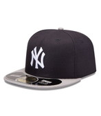 MLB NEW ERA Fitted Cap [5331334-025] 男款 大聯盟 紐約 洋基 選手 棒球帽 黑灰