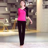 中大尺碼瑜伽服套裝 女短袖莫代爾七分褲長褲健身服 nm11998【VIKI菈菈】