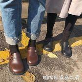 韓國ulzzang日繫復古原宿學院風娃娃鞋搭扣大頭單鞋厚底小皮鞋女 糖糖日系森女屋
