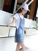 牛仔裙 牛仔背帶裙女春秋套裝學生韓版大碼法式裙子夏季連身裙 曼慕衣櫃